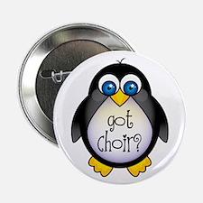 """Cute Penguin Choir 2.25"""" Button"""