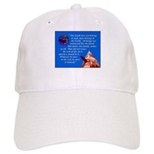Web of Life Quote Baseball Cap