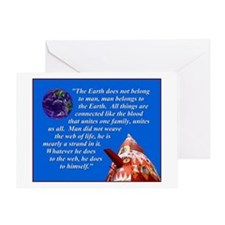 Web of Life Quote Greeting Card