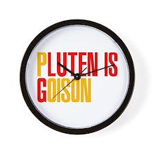 Gluten is Poison Wall Clock