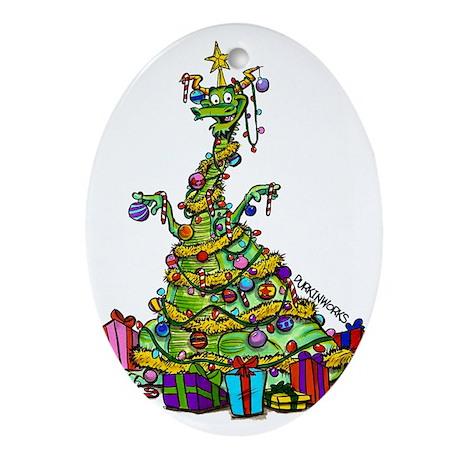 Durkin's Dragons Oval Ornament