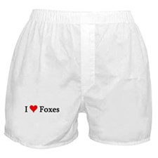 I Love Foxes Boxer Shorts