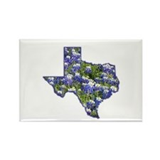 TX Bluebonnets Rectangle Magnet