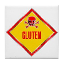 Gluten Poison Warning Tile Coaster