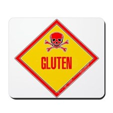Gluten Poison Warning Mousepad