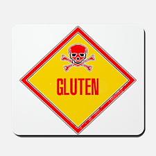 Gluten Poison Warning Mousepad