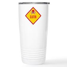 Gluten Poison Warning Travel Mug