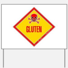 Gluten Poison Warning Yard Sign