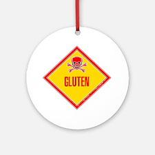 Gluten Poison Warning Ornament (Round)