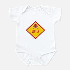 Gluten Poison Warning Infant Bodysuit
