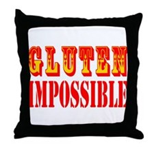 Gluten Impossible Throw Pillow