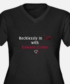 Recklessly in love with Edwar Women's Plus Size V-