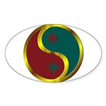 Templar Prosperity Symbol on a Sticker (Oval 50 pk