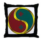 Templar Prosperity Symbol on a Throw Pillow