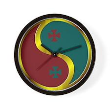 Templar Prosperity Symbol on a Wall Clock