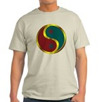 Templar Prosperity Symbol on a Light T-Shirt
