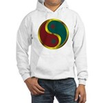 Templar Prosperity Symbol on a Hooded Sweatshirt