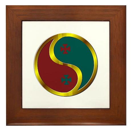 Templar Prosperity Symbol on a Framed Tile