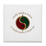 Templar Prosperity Symbol on a Tile Coaster