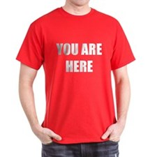 You Are Here T-Shirt (Dark)