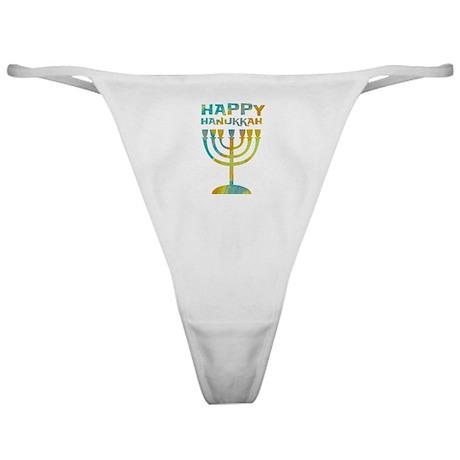 Happy Hanukkah Classic Thong