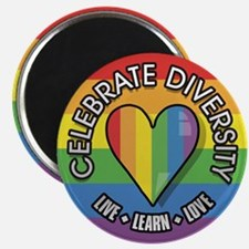 Celebrate Diversity 2.25 inch Magnet (10 pack)