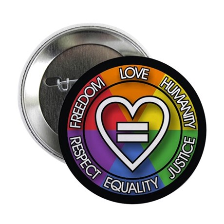 Human Rights 2.25 inch Rainbow Button (100 pack)