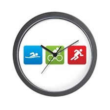 Cute Triathlon Wall Clock