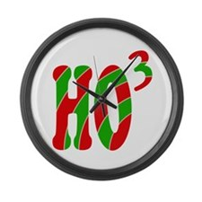 Ho Ho Ho Large Wall Clock