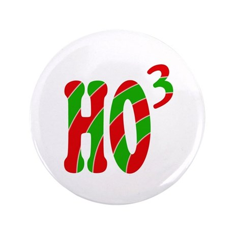 "Ho Ho Ho 3.5"" Button (100 pack)"