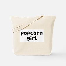 Popcorn Girl Tote Bag
