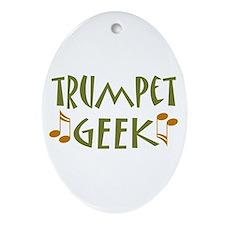 Trumpet Geek Oval Ornament