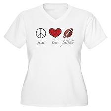 Peace Love Football T-Shirt