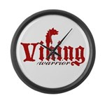 Viking Warrior Large Wall Clock