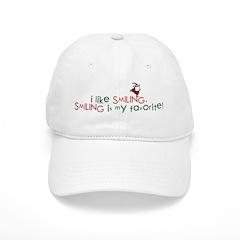 i like smiling Baseball Cap