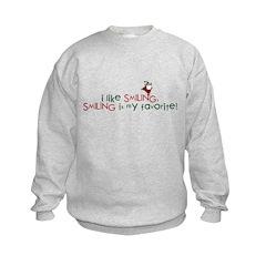 i like smiling Sweatshirt