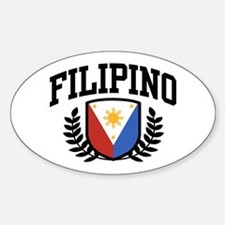 Filipino Oval Decal