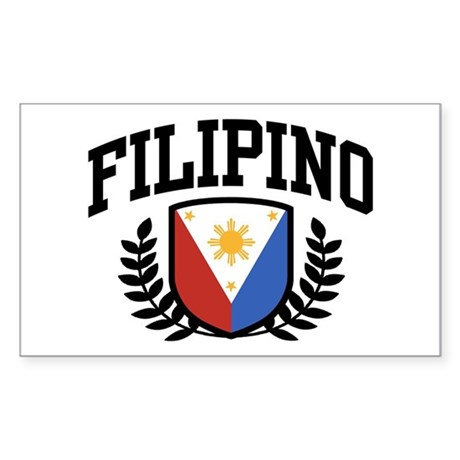 Filipino Rectangle Sticker