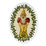 Christmas Elf Paper Doll 1 Oval Ornament
