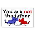 Not father (dogs) Rectangle Sticker
