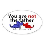 Not father (dogs) Oval Sticker