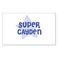 Super Cayden Rectangle Decal