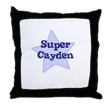 Super Cayden Throw Pillow