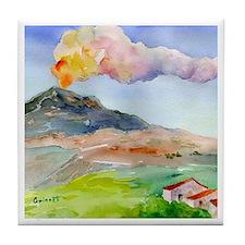 Sicilian Mt. Etna Tile Coaster