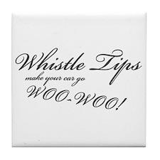 Whistle Tips Tile Coaster