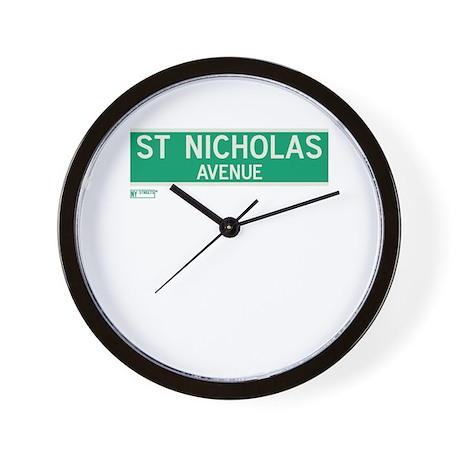 St. Nicholas Avenue in NY Wall Clock