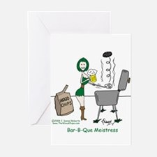 Bar-B-Que Meistress Greeting Cards (Pk of 10)
