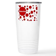Valentine dots Travel Mug