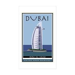 Dubai Rectangle Sticker 10 pk)