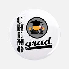 """Chemo Grad Brain Cancer 3.5"""" Button"""